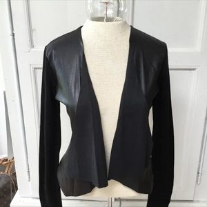 Calvin Klein Leather And Knit Top